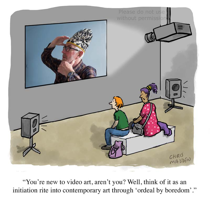 A cartoon about moving image art
