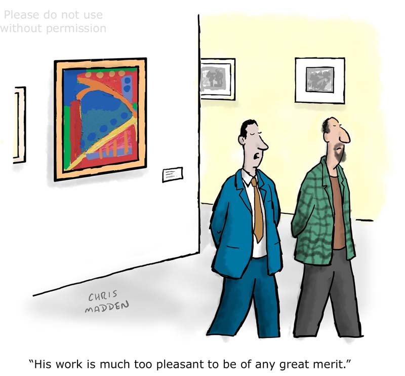 Art that is too pleasant to be good – cartoon