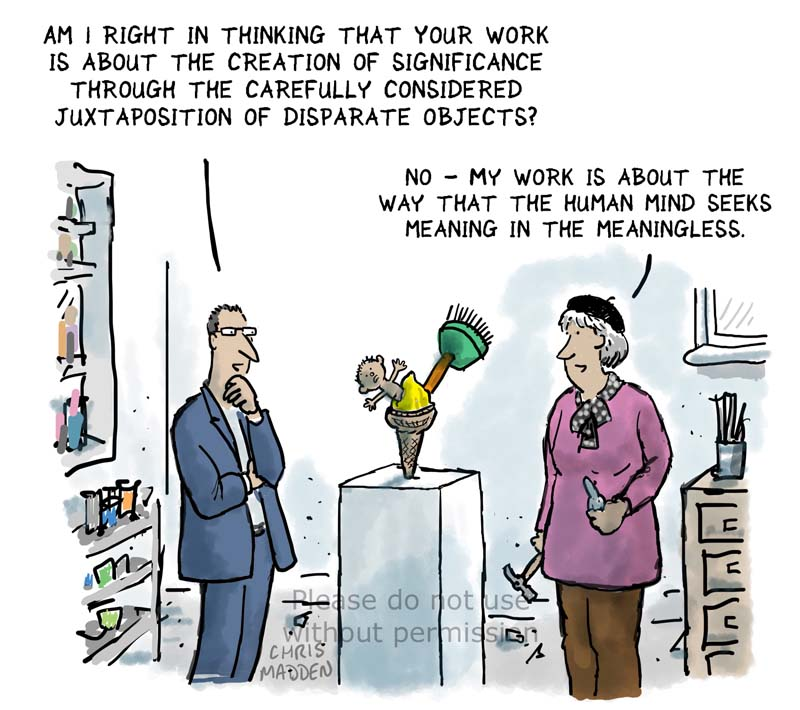 Finding meaning in art – cartoon