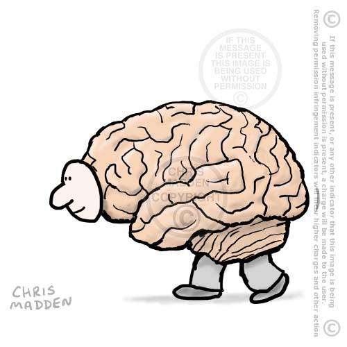walking brain illustration