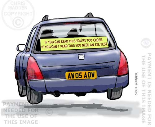 car rear window sticker cartoon