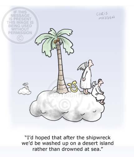 Desert island cartoon - cloud