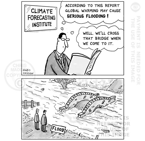 global warming flooding cartoon