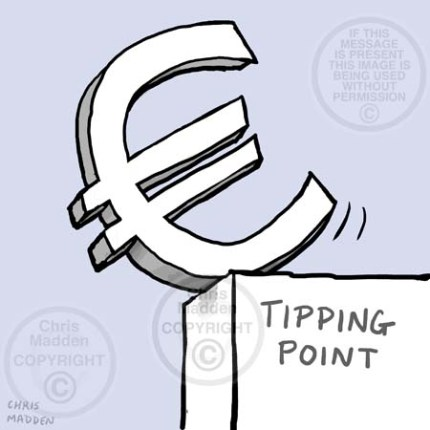 Euro tipping point cartoon