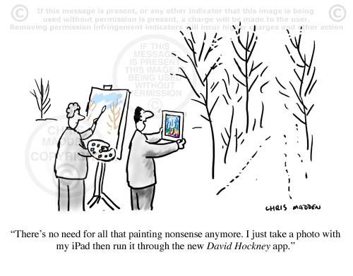 david hockney paintings ipad app