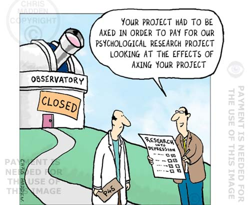 scientific research budget cuts cartoon