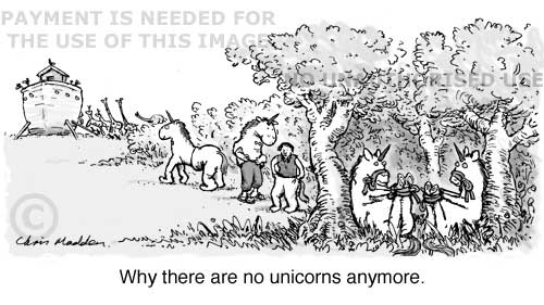 Why there are no unicorns - Noah ark cartoon