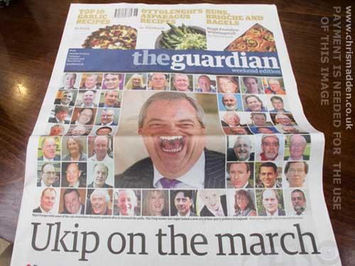 Nigel Farage caricature