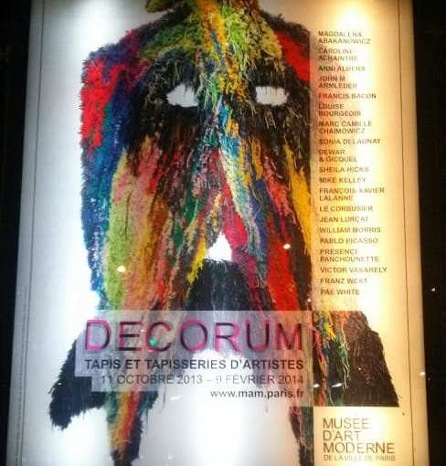 Décorum, l'expo tapis du Musée d'Art Moderne, pour découvrir le tapis autrement.
