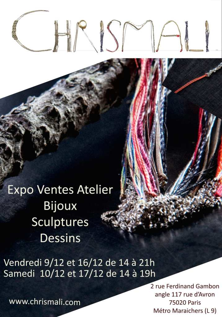Expo vente atelier Chrismali