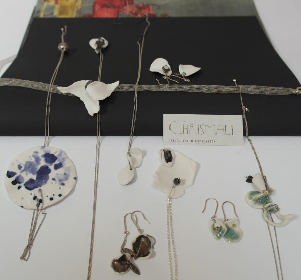 Collection bijoux porcelaine fil et argent