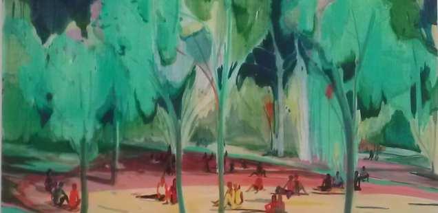 Exposition coup de coeur, Jules de Balincourt, Blue Hours à la galerie Thaddaeus Ropac dans le Marais, jusqu'au 18/10.