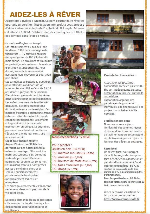Immaculation projet Munnar
