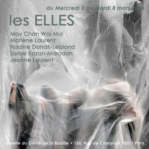 """Les ELLES, expo collective arts textiles, peinture, photographie, arts visuels à la galerie """"Le Génie de la Bastille"""""""