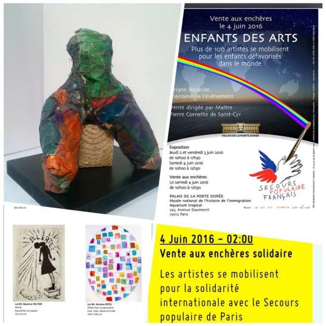 Vente aux encheres enfants des arts