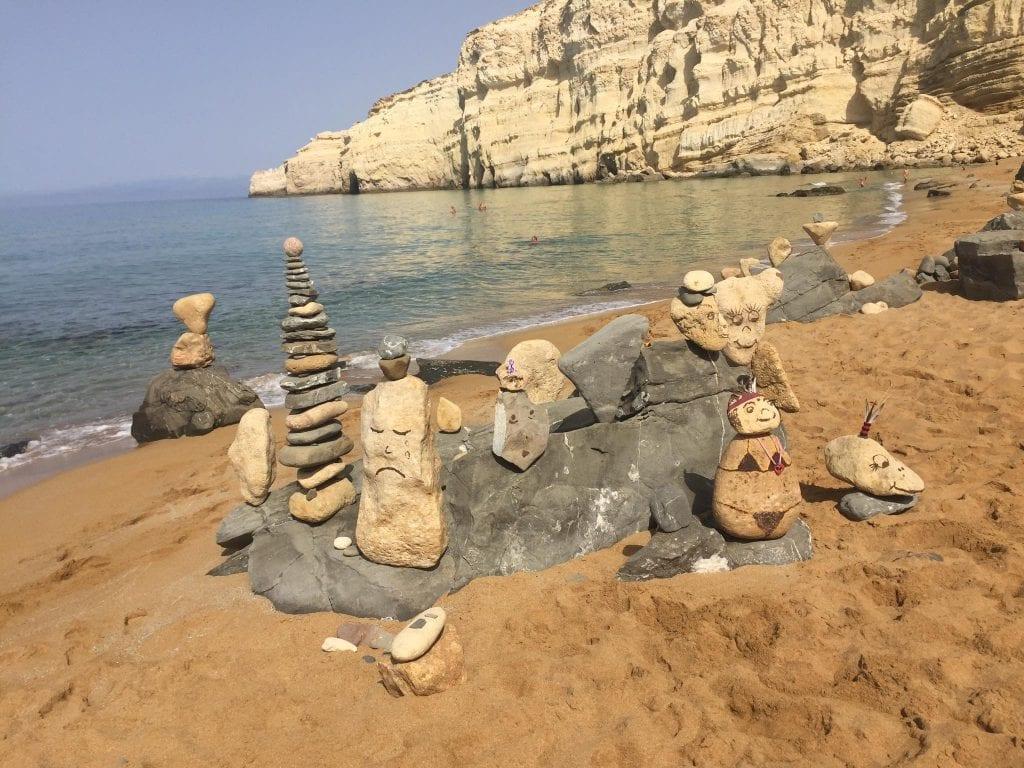 Balanced Rock Matala Red Beach