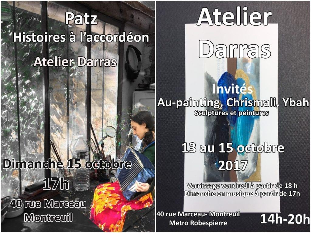 POrtes ouvertes de Montreuil Chez Françoise Darras avec Ybah et Au-painting - participation Patz
