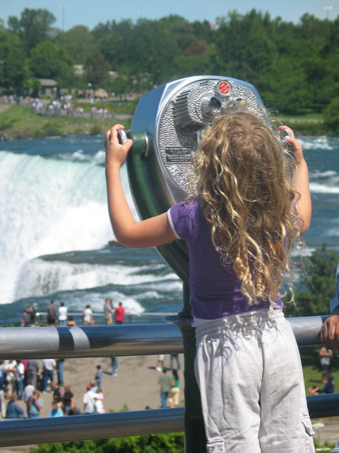 Little Girl at Niagra Falls