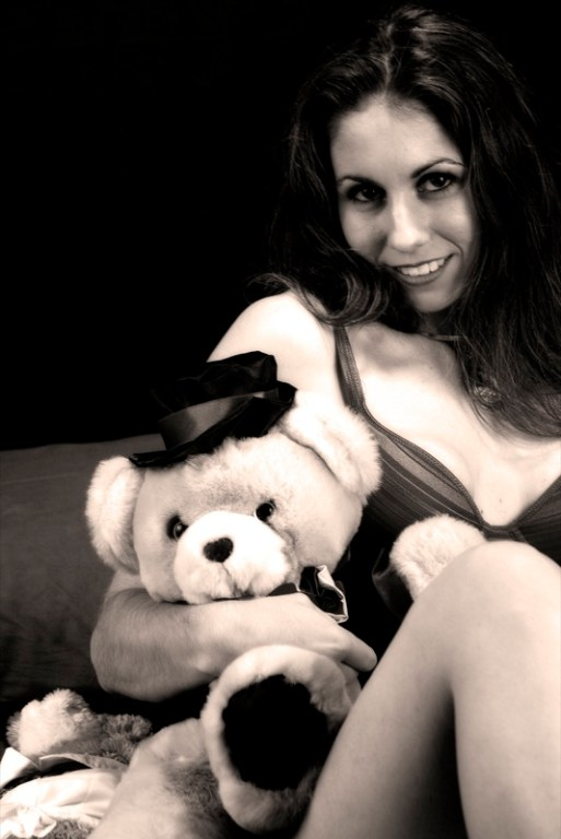 Damsel with bear