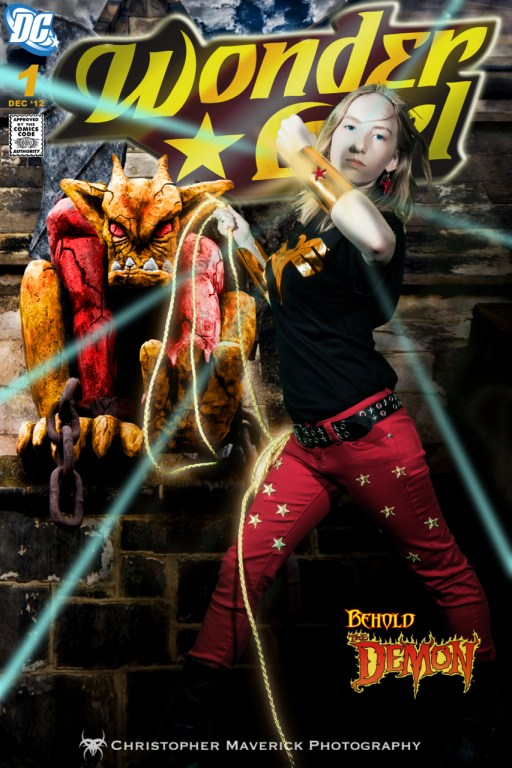 Wonder Girl and Demon