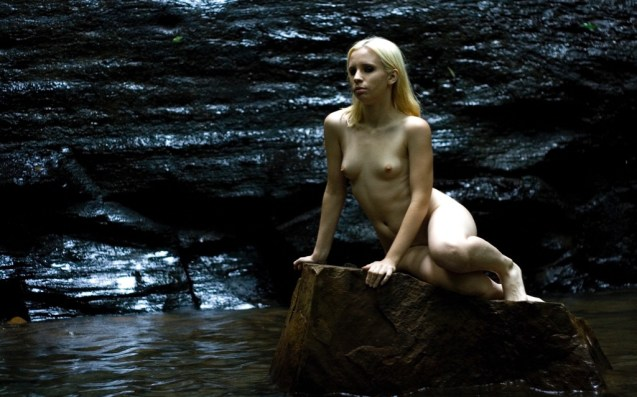Amaya on rock