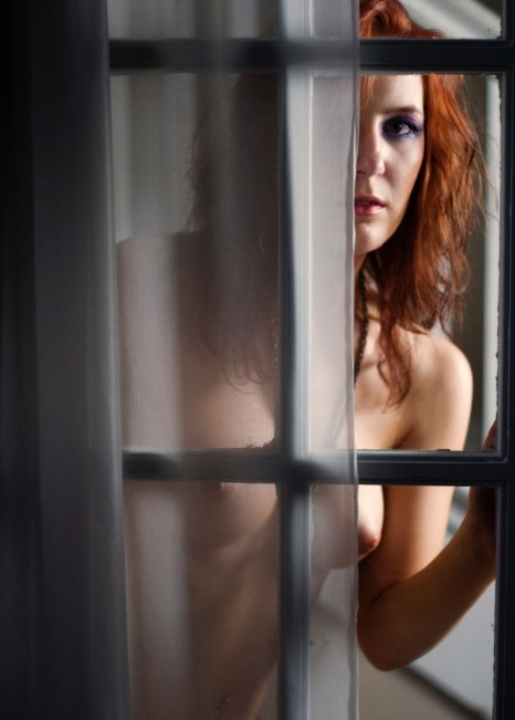 Laurie in the window