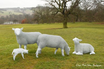 Yorkshire Sculpture Park by chris moss wire sculptor in yorkshire