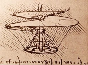 Image of Leonardo da Vinci's Helicopter - Visualising Information Technology