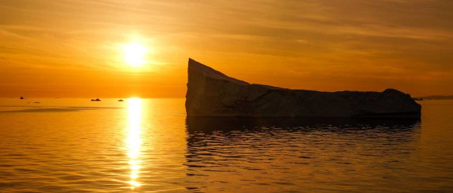 Greenland Iceberg at sunset