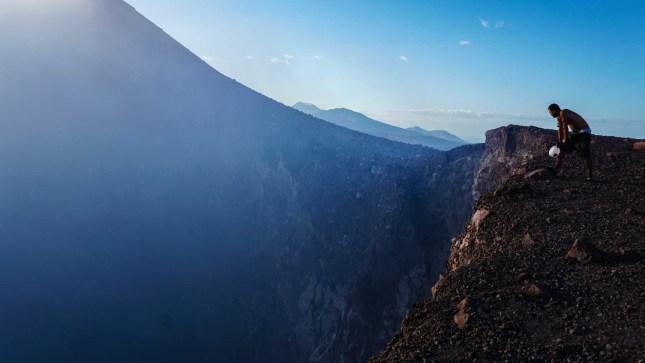 Looking down Telica VolcanoinNicaragua.