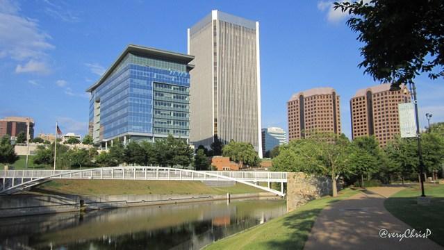 Buildings and bridge