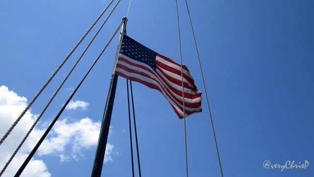 The U.S. flag flew on both ships