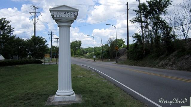 Entrance to Richmond at Rocketts Landing.