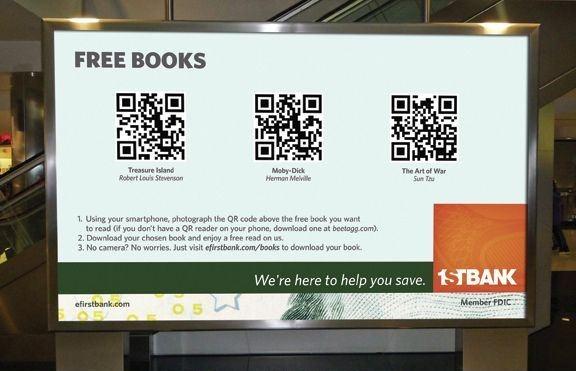 FirstBank: Free books QR code billboardsChris Rawlinson