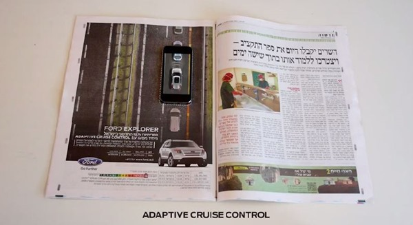 Ford Explorer interactive magazine ad