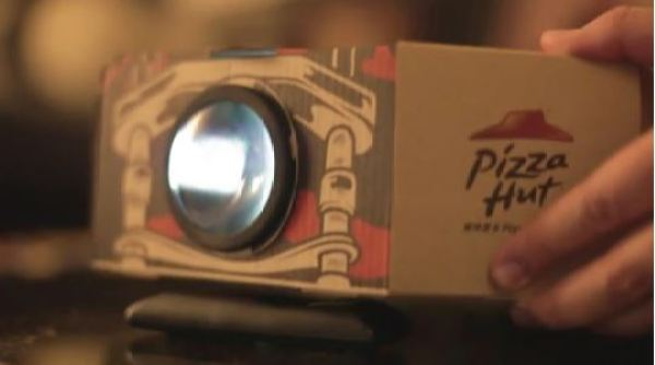 projector pizza box