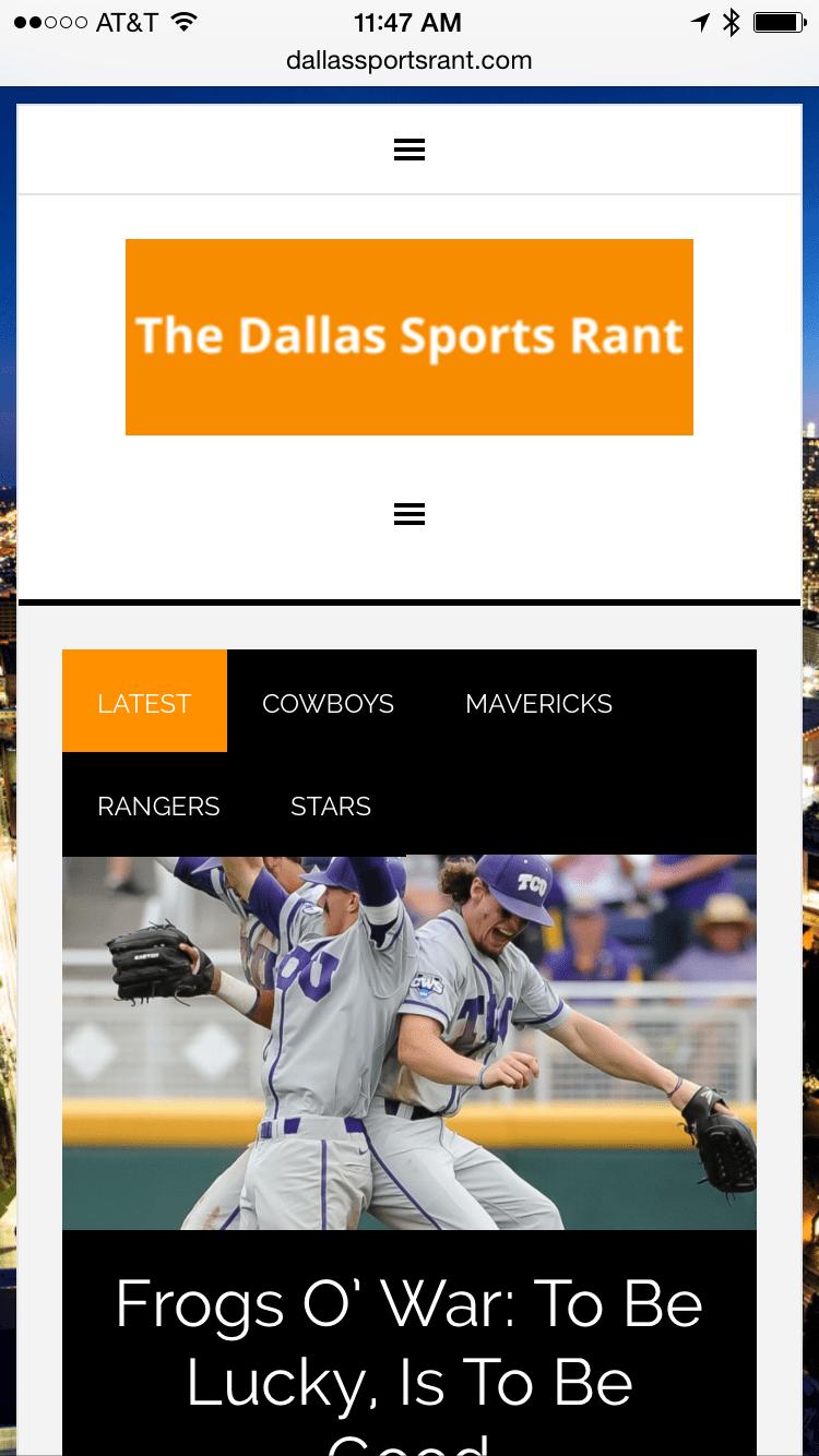 Portfolio: Dallas Sports Rant