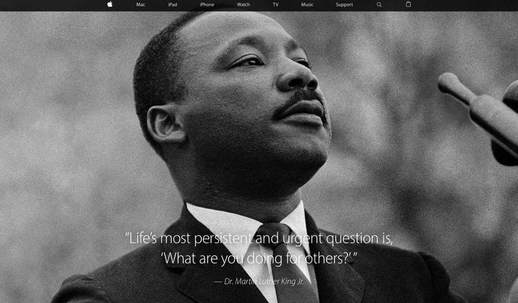 Apple.com: MLK Tribute