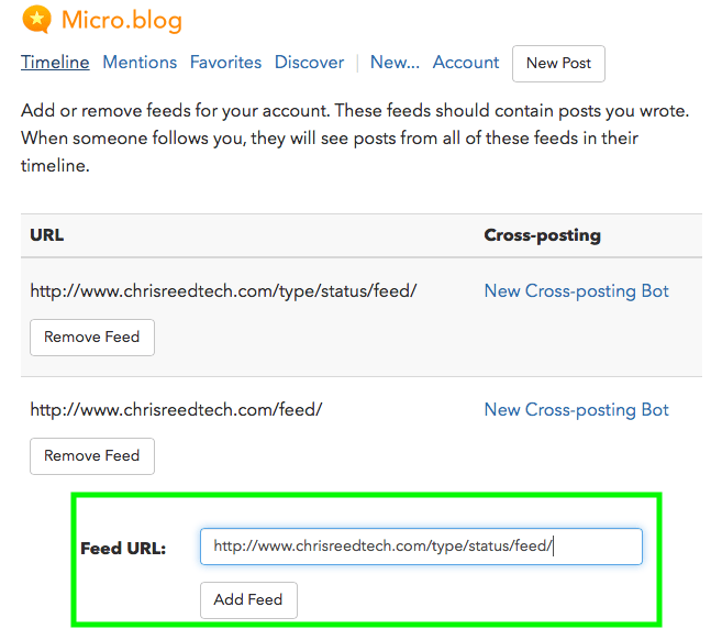 Micro.blog: Add Feed