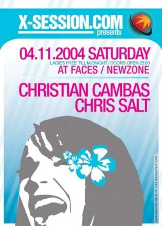 Chris Salt and Christian Cambas @ Faces 2004