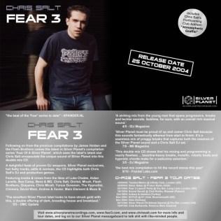 Chris Salt - Fear 3 CD 2004