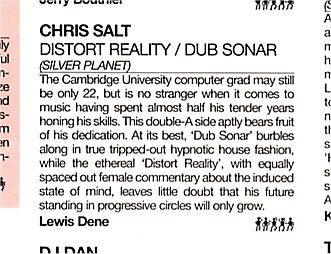 DMC Update review of Chris Salt - Dub Sonar