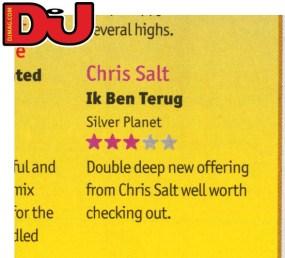DJ mag review of Chris Salt - Ik Ben Terug