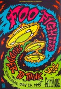 Foo Fighters poster by Chris Shaw