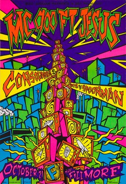 MC 900ft Jesus poster by Chris Shaw