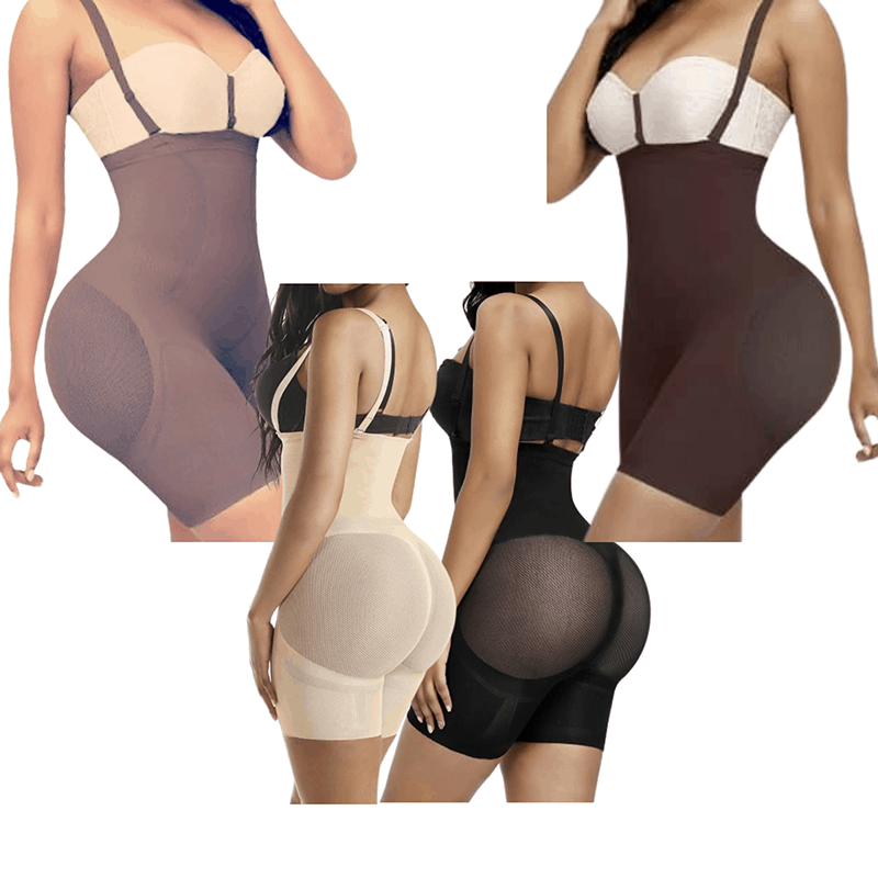 "Seamless Butt Lifting Tummy Control Strapless Body Shaper |ChrissyK's ""Brown Sugar"" 