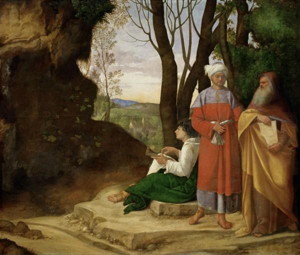 Giorgione - Die drei Philosophen (1505). Quelle: Wikipedia