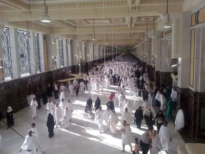 Pilger auf dem Weg von Marwa nach Safa.