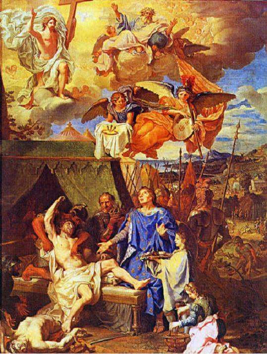 Image: St. Louis_guérissant_les_écrouelles, _Le_roi_te_touche, _Dieu_te_guérit .... jpg