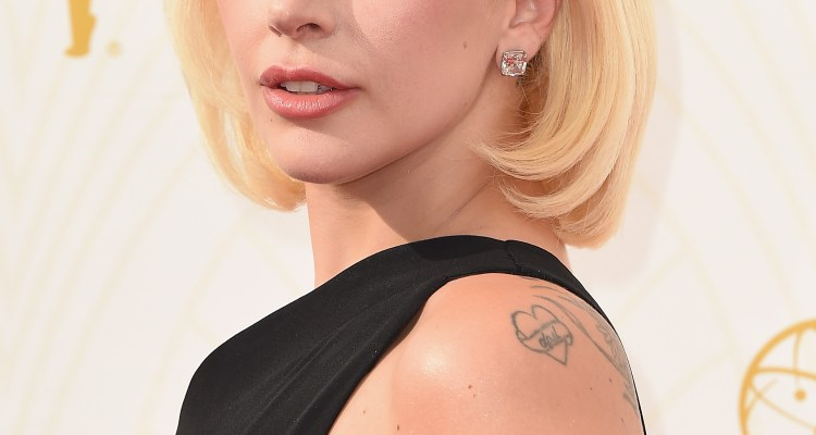 Lady Gaga and Matrix at the Emmy Awards